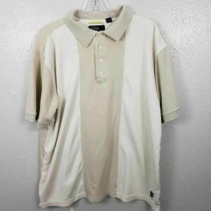 Nat Nast Luxury silk blend Polo Shirt Beige Med